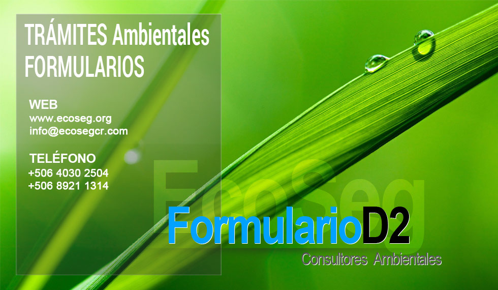 formulario d2 requisito ambiental